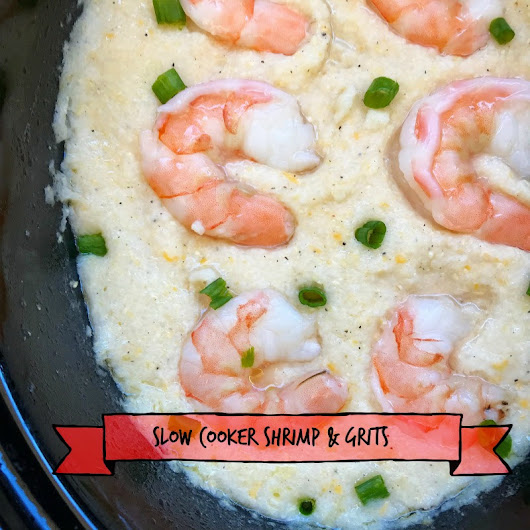 Slow Cooker Shrimp & Grits - Fit SlowCooker Queen