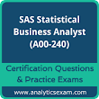 SAS Statistical Business Analyst Certification Questions and Online Practice Exam