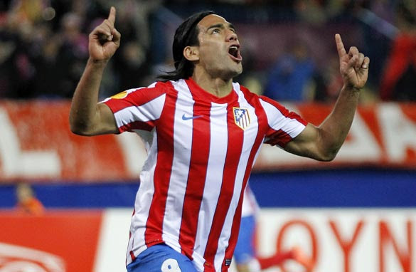 Colombia's Radamel Falcao arrived at Atletico Madrid from Porto in 2011.