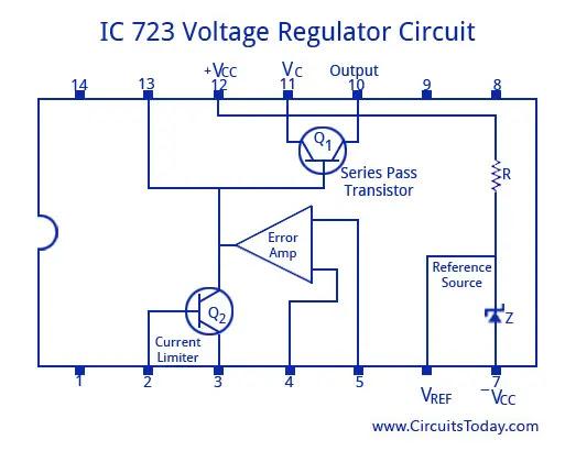 IC 723 Voltage Regulator Circuit