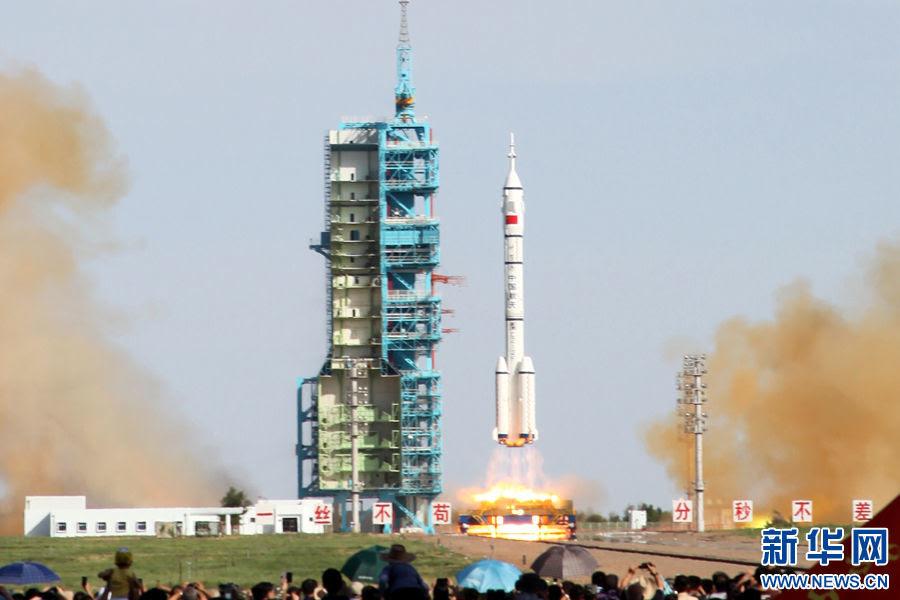 Thần Châu 10, quỹ đạo, Trung Quốc, phóng, vũ trụ, Trạm vũ trụ