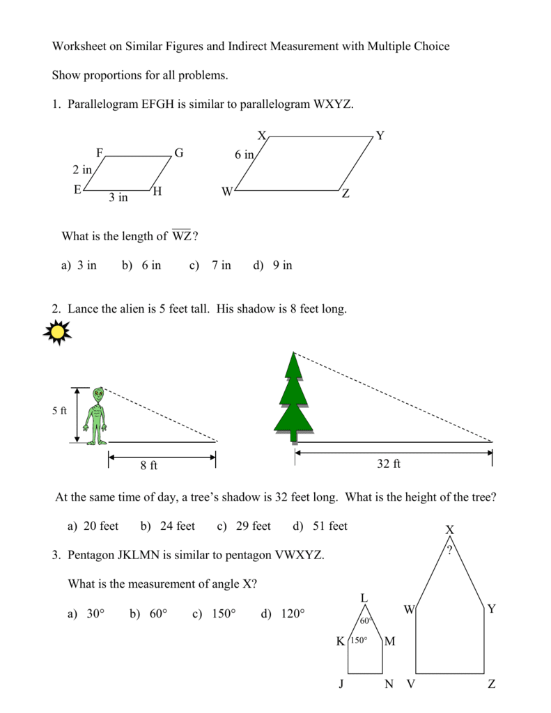 33 Exploring Similar Figures Worksheet Answer Key - Free ...