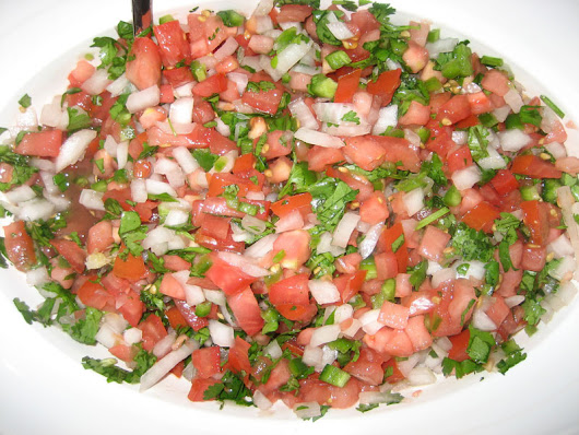 Pico de gallo, Vegetarian recipe