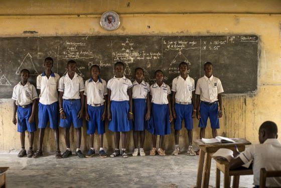Alumnos de la Escuela Anglicana de Kenyasi.