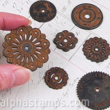 Finnabair Mechanicals Metals - Rustic Washers