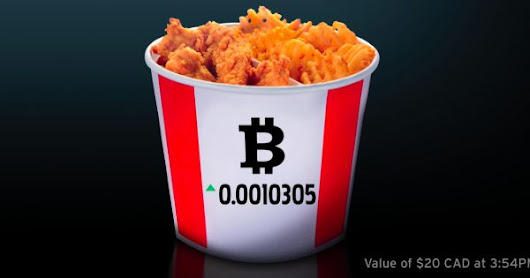 KFC Is Now Accepting Bitcoin for Buckets of Fried Chicken