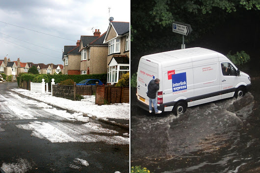 Crazy summer weather sees snow in JULY on the streets of south coast holiday town