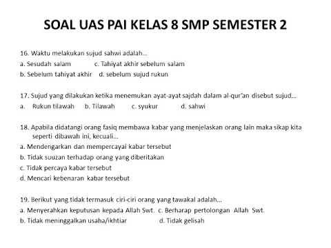 Contoh Soal Bahasa Indonesia Kelas 7 Kurikulum 2013 ...