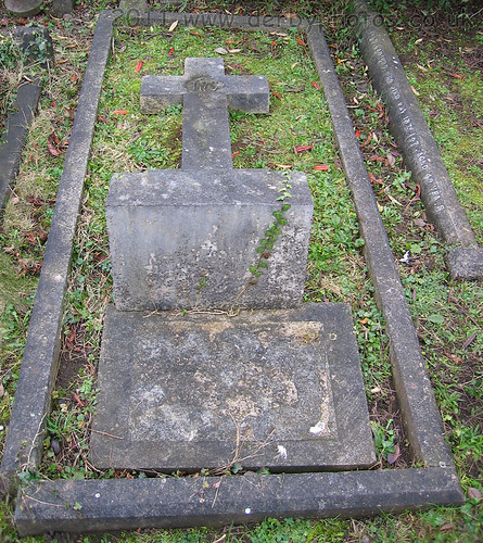 The grave of Andrew Handyside and wife Anastasia.
