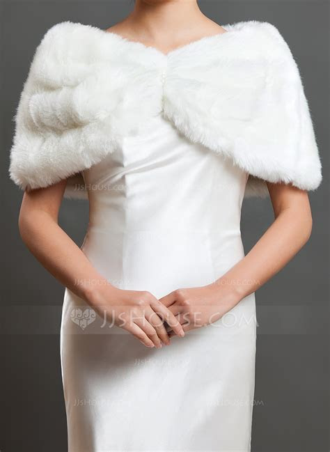 Faux Fur Wedding Shawl (013059531)   Wraps   JJ's House
