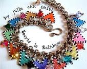 JULIE ANN SMITH Designs Hearts LeRainbow Bead Pattern - JULIEANNSMITHDESIGNS