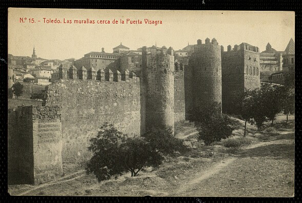 Torres de la Reina a inicios del siglo XX. Fototipia Thomas hacia 1910