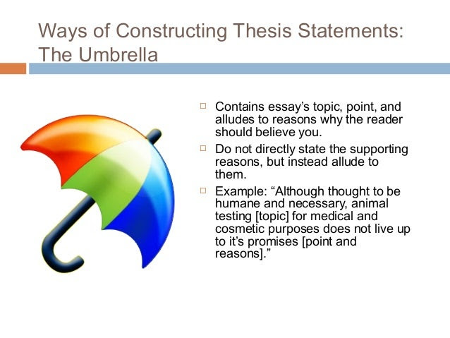 a good thesis statement covers how many topics