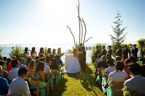 Intimate outdoor ceremony #waterfront #Seattle #venue