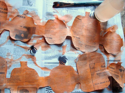 paper pumpkin wip