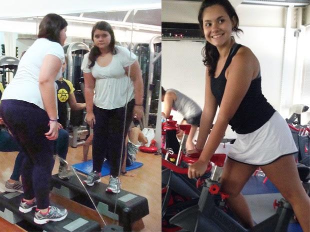 Isabela começou a fazer exercícios na academia (Foto: Isabela Vilar/Arquivo Pessoal)
