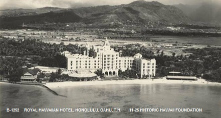 Image result for historical photos of the royal hawaiian hotel