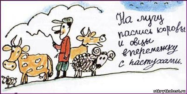 открытка крылатые выражения коровы овцы пастухи