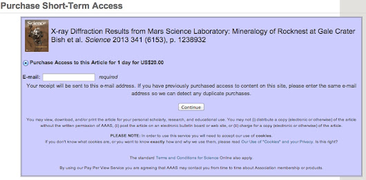 NASA paywalls first papers arising from Curiosity rover, I am setting them free