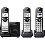 Panasonic KX-TGD513B Expandable Cordless Phone with 2 Handsets - Black