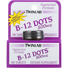 Twinlab B-12 Dots, 500 mcg, Tablets - 100 count