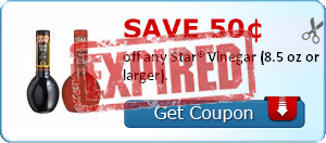 Save 50¢ off any Star® Vinegar (8.5 oz or larger).