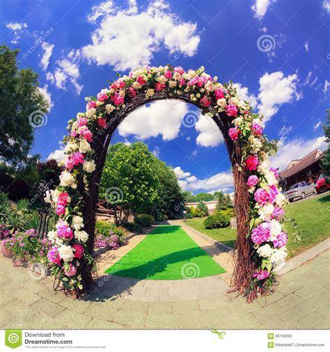 Flower Wedding Gate Stock Photo   Image: 56740263
