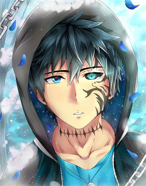 wallpaper anime boy tattoo colorful eyes shape petals