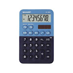 Sharp EL760RBBL Handheld Calculator, 8-Digit LCD