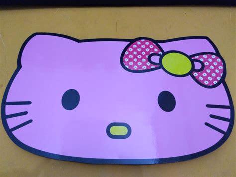 jual beli meja lipat anak gambar  kitty pink lucu