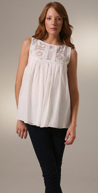 Lauren Moffatt Lace Yoke Sleeveless Tunic