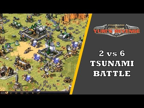 Red Alert 2 - 2 vs 6 Tsunami Battle