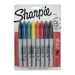 Sharpie Fine Point Permanent Marker, Assorted Colors - 8 pack