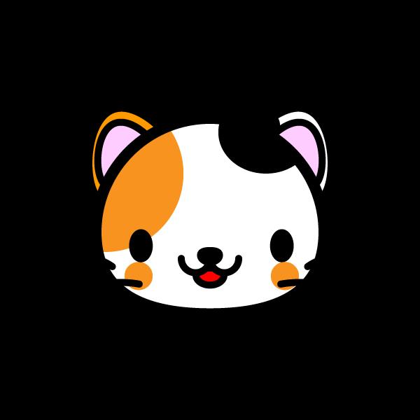 かわいい三毛猫の無料イラスト 商用フリー オイデ43