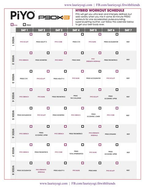meal plans  workout calendars laurie yogi shaped