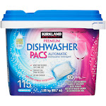 Kirkland Signature Premium Dishwasher Detergent Pacs, 115-count