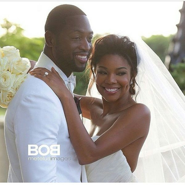 Gabrielle Union Dwayne Wade Wedding Pic