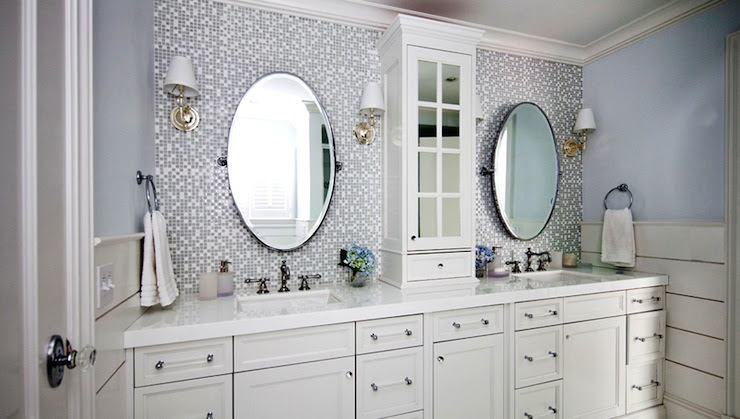 Mosaic Glass Tile Backsplash - Contemporary - bathroom ...