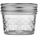 Ball Jelly Jars, Quilted Crystal, Regular Mouth, 4 Ounce - 12 jars