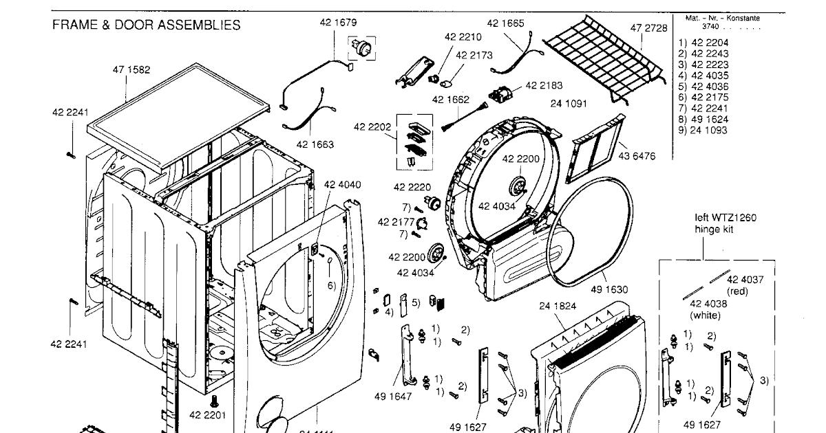 Wiring Diagram: 31 Bosch Dryer Parts Diagram
