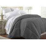 ienjoy Home Simply Soft All Season Down Alternative Comforter, Gray, California King / King