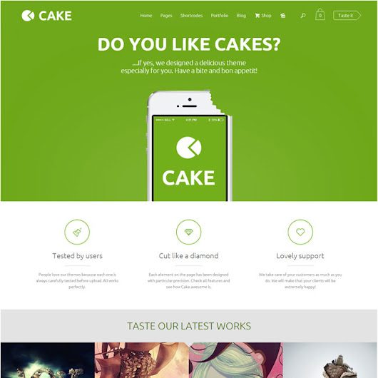 Cake WordPress Theme | Best WordPress Themes 2014
