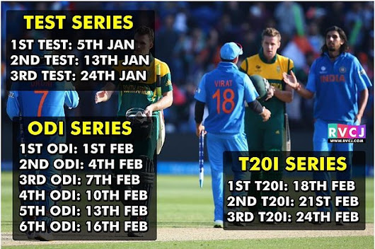 Watch India Vs South Africa Series In 2018 Without Interruption