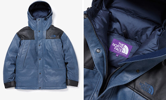 The North Face Purple Label Drops Leather Mountain Jacket
