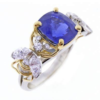 Tiffany & Co. Schlumberger Burma Sapphire Two Bees Ring