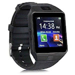Bluetooth Smart Watch Phone + Camera SIM Card For Android IOS Phones - Color: Black