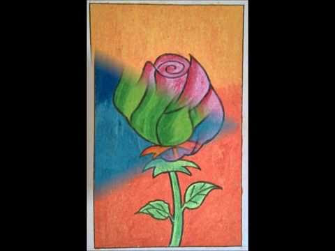 63 Gambar Bunga Mawar Pakai Crayon Paling Baru Gambar Bunga