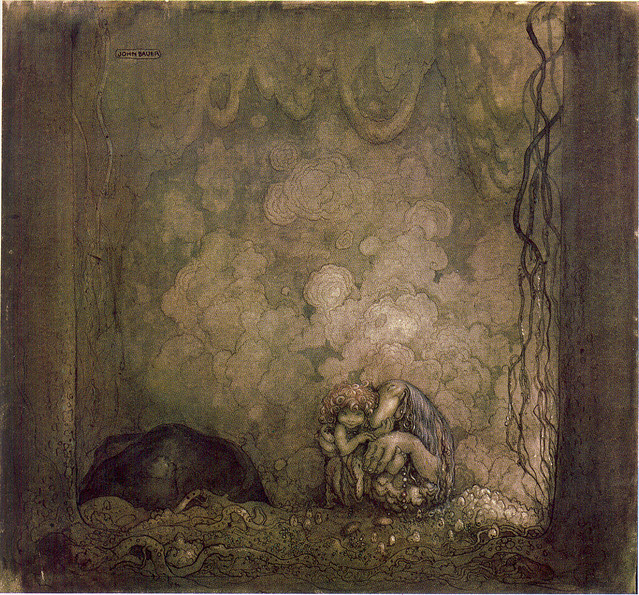 John Bauer - Mother Love,1917
