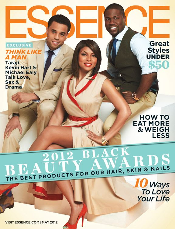 Essence - May 2012, Michael Ealy, Kevin Hart & Taraji P. Henson