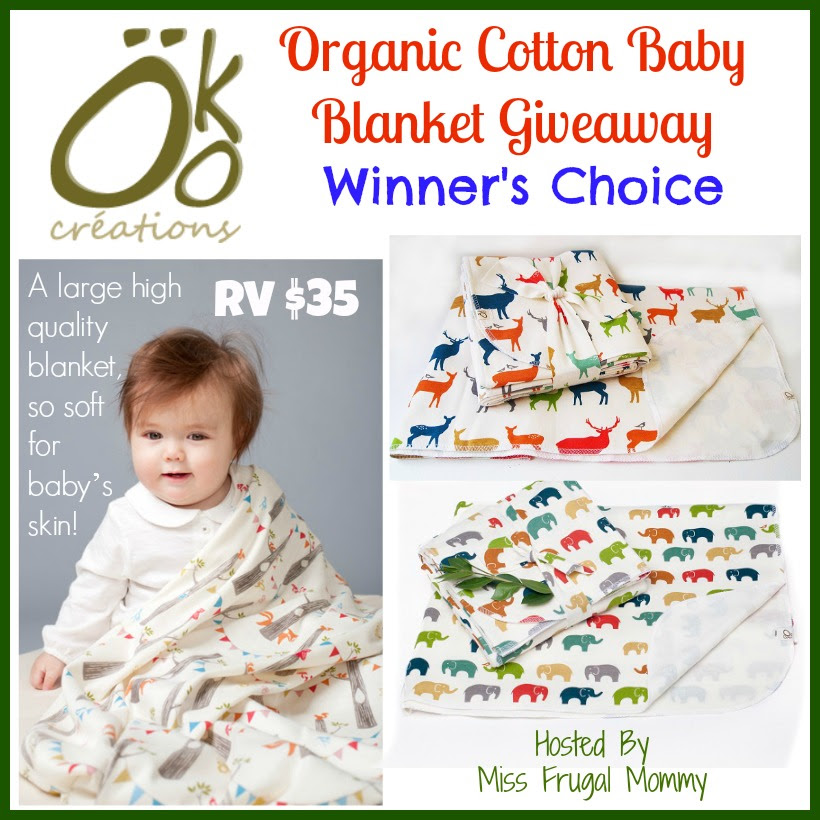 Öko créations Organic Cotton Baby Blanket Giveaway